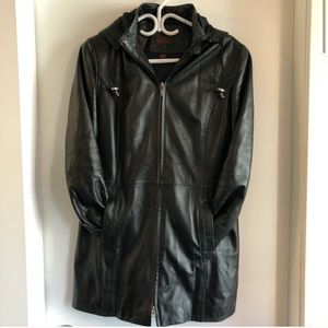Danier Leather Mid Length Leather Jacket
